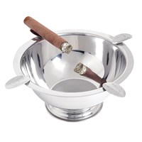 Stinky Cigar Original Stainless Steel Ashtray With 4 Stirrups  Chrome