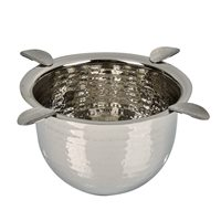Stinky Tall Hammered Stainless Steel Cigar Ashtray  Stainless Steel - Hammered