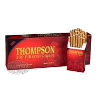 Thompson Large Cigar Natural Filtered Full Hard Pack