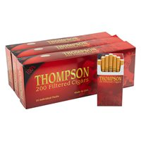 "Thompson Filtered Cigars Hard Pack 3-Fer Natural Full (Cigarillos) (3.5""x18) PACK (600)"