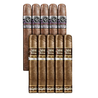Double Down 90+ Rated 10 Sampler Rocky Patel VS Aging Room  SAMPLER (10)