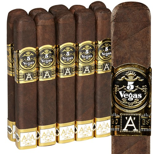 5 Vegas Triple-A Box-Pressed Robusto Pack of 10 Cigars