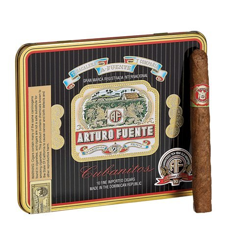 "Arturo Fuente Cubanitos Cigarillo Natural - Single Tine (Cigarillos) (4.2""x32) PACK (10)"