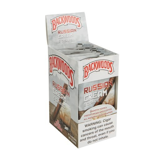 "Backwoods Russian Cream Natural Cigarillos (4.5""x32) PACK (40)"
