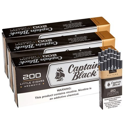 "Captain Black Sweets Natural Filtered Sweet 3-Fer (Cigarillos) (3.8""x20) PACK (600)"