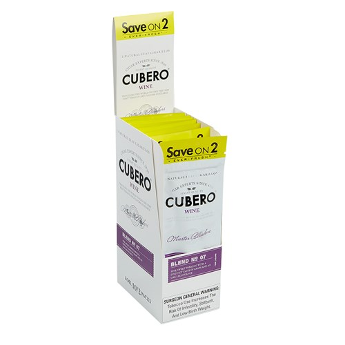 "Cubero Cigarillo Natural Wine (Cigarillos) (4.2""x28) PACK (20)"