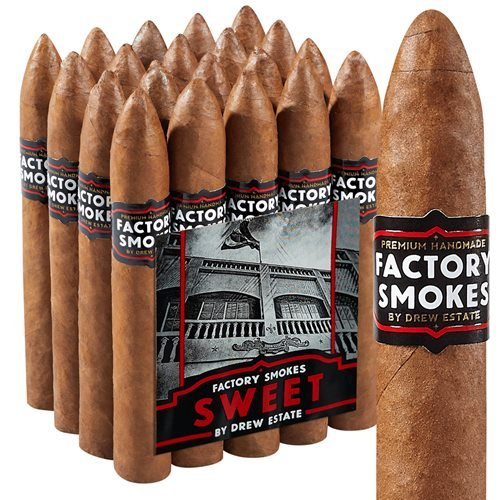 "Drew Estate Factory Smokes Belicoso Habano Sweet (6.0""x54) PACK (20)"