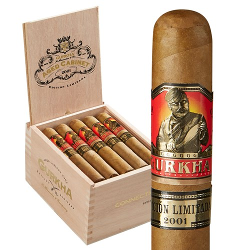 "Gurkha Cabinet Estate Selection Robusto Connecticut (5.0""x50) BOX (20)"