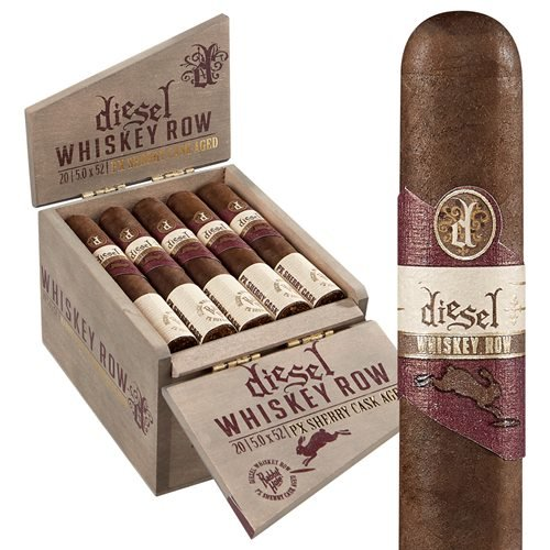 Diesel Whiskey Row Sherry Cask Robusto Connecticut Broadleaf Cigars