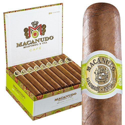 "Macanudo Cafe Hyde Park Robusto Connecticut (5.5""x49) BOX (25)"