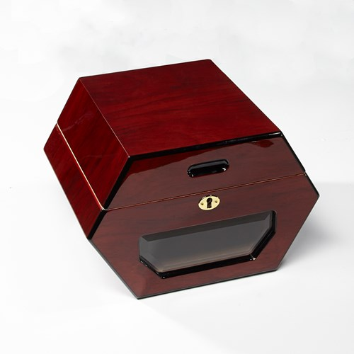 Cuban Wheel 50 Count Rosewood Humidor  50 Cigar Capacity