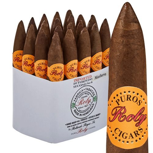 "Puros Indios Roly Torpedo Maduro (6.0""x52) Pack of 20"