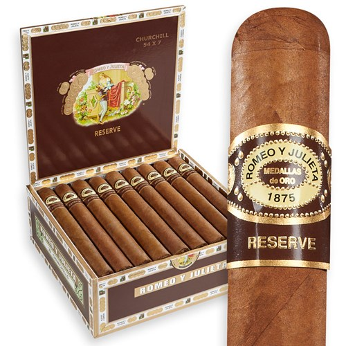 "Romeo y Julieta Reserve Churchill Natural (7.0""x54) BOX (27)"