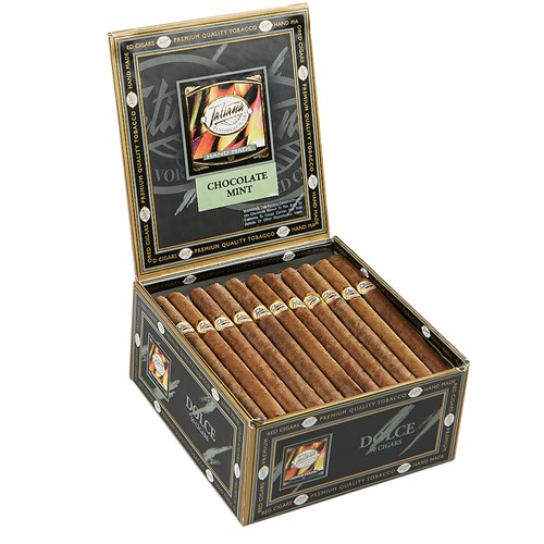 "Tatiana Flavored Cigarillos Dolce Chocolate Mint (5.0""x30) BOX (50)"