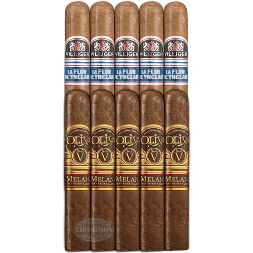 Double Down Top 10 93+ Robusto Sampler Oliva VS Villiger Lfdy Cigar Samplers