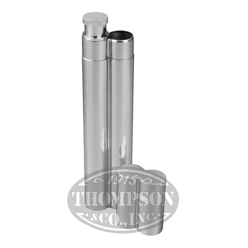 Stainless Steel Flask And Cigar Tube Travel Cases