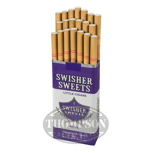 Swisher Sweets Little Cigars 2-Fer Natural Filtered Cigarillo Grape