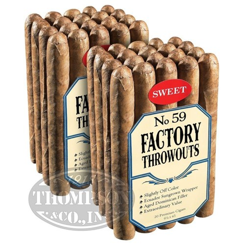 Factory Throwouts No. 59 Sun Grown Lonsdale Sweet 2-Fer Cigars