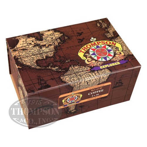 Thompson Explorer Flavors Robusto Habano Coffee 2-Fer Cigars