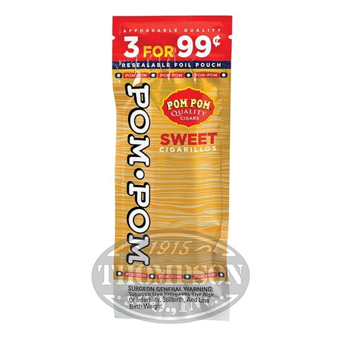 Swisher Sweets Pom Pom Cigarillo Natural Sweet 2-Fer