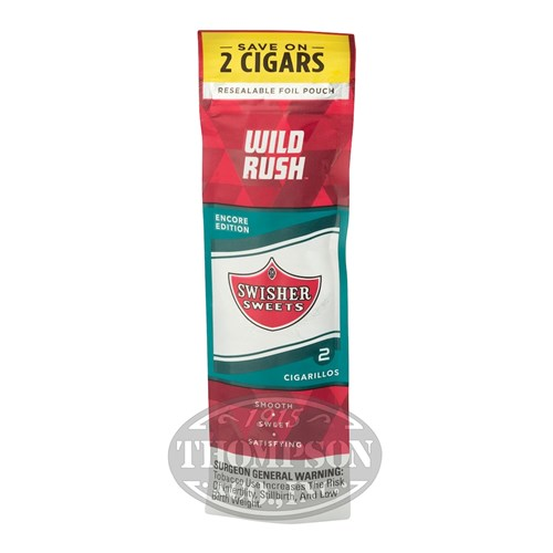 Swisher Sweets 2pks Wild Rush Natural Cigarillo Wild Rush