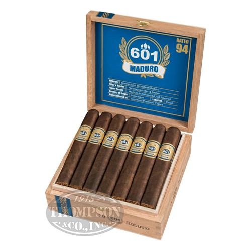 601 Blue Label Box-Pressed Robusto Maduro Cigars