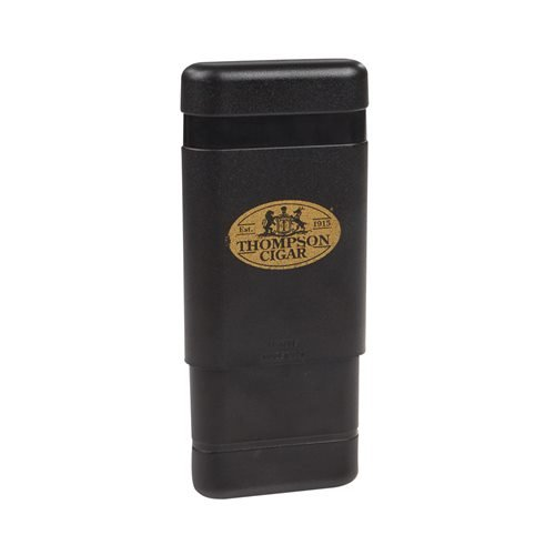 3 Finger Black Telescoping Cigar Case  3-Finger